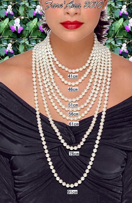 Measurements for necklaces