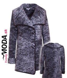 Elegantný dámsky oversize zimný kabát - trendymoda.sk