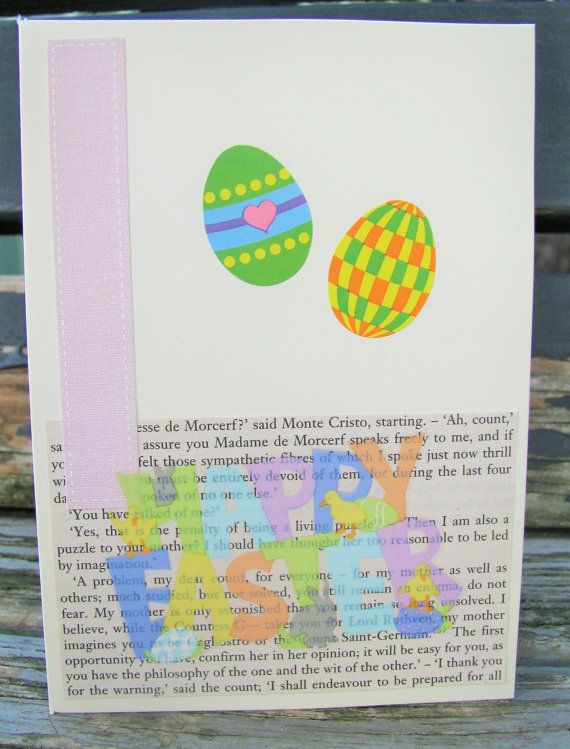 Easter Eggs  handmade card FWB easter card by RogueKissedCraft
