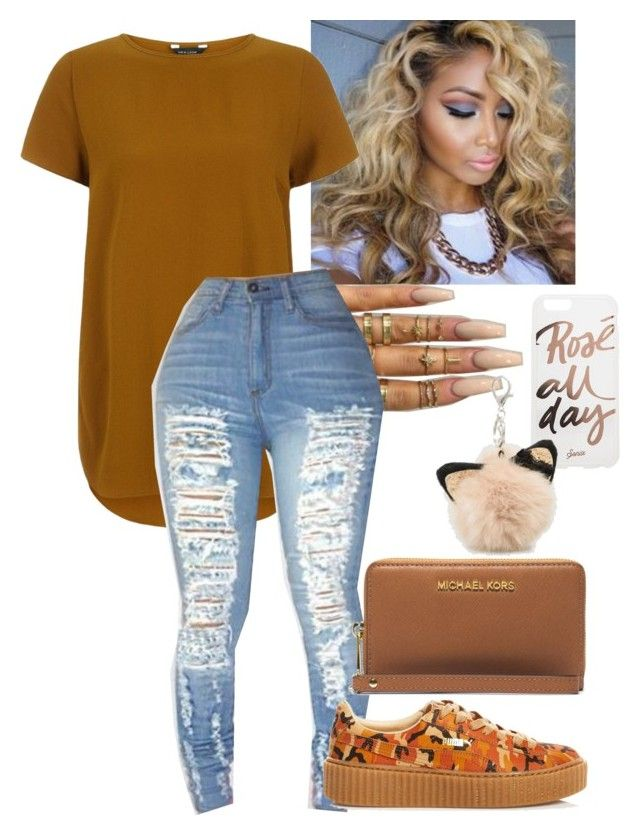 """nude..."" by glogod ❤ liked on Polyvore featuring beauty, Floss Gloss, Puma, Sonix, Michael Kors and Ashley Stewart"