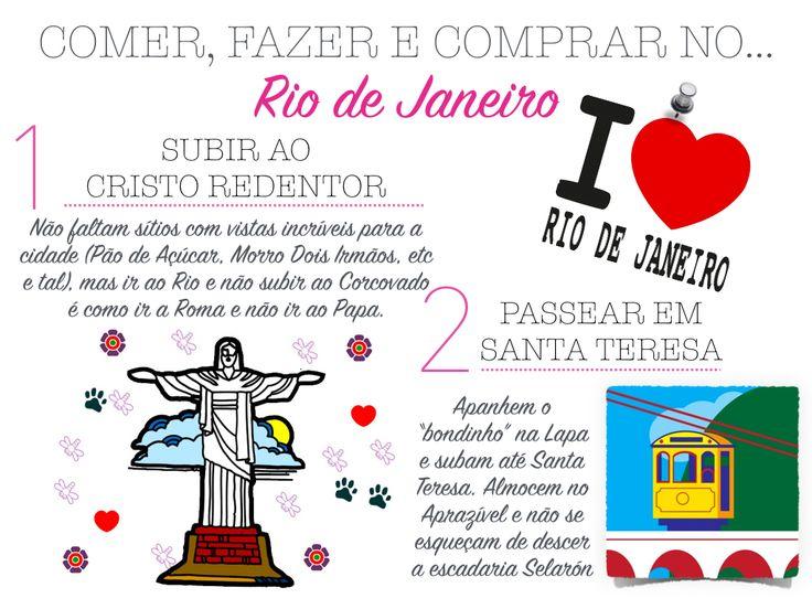 Depois da incursão a Nova Iorque, hoje vamos até ao Rio de Janeiro, um dos meus destinos preferidos. Já fui lá três vezes, não tantas quan...