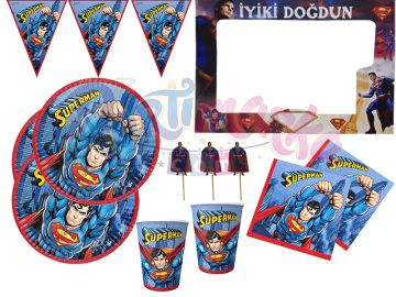 Superman Doğum Günü Parti Seti