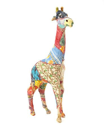 Another great find on #zulily! 14'' Sari Fabric-Wrapped Giraffe Figurine #zulilyfinds