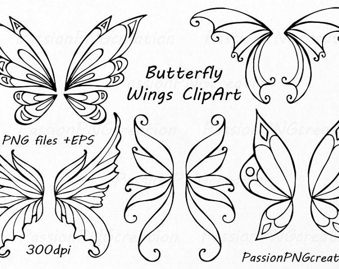 Butterfly Black White Outline Shadow Puppet Template With Images