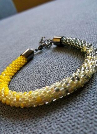 Kup mój przedmiot na #vintedpl http://www.vinted.pl/akcesoria/bizuteria/10200838-cieniowana-pleciona-bransoletka-z-koralikow-toho