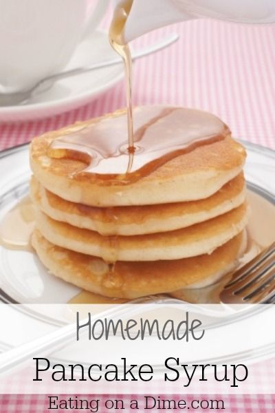 Homemade Pancake Syrup is so easy to make! It tastes better than store bought and saves you at least half the money!  - Eating on a Dime  http://eatingonadime.com/homemade-pancake-syrup/