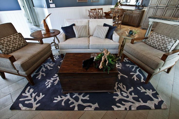 Family Room Rug - Coastal - Living room - Images by Beth Whitlinger Interior Design | Wayfair