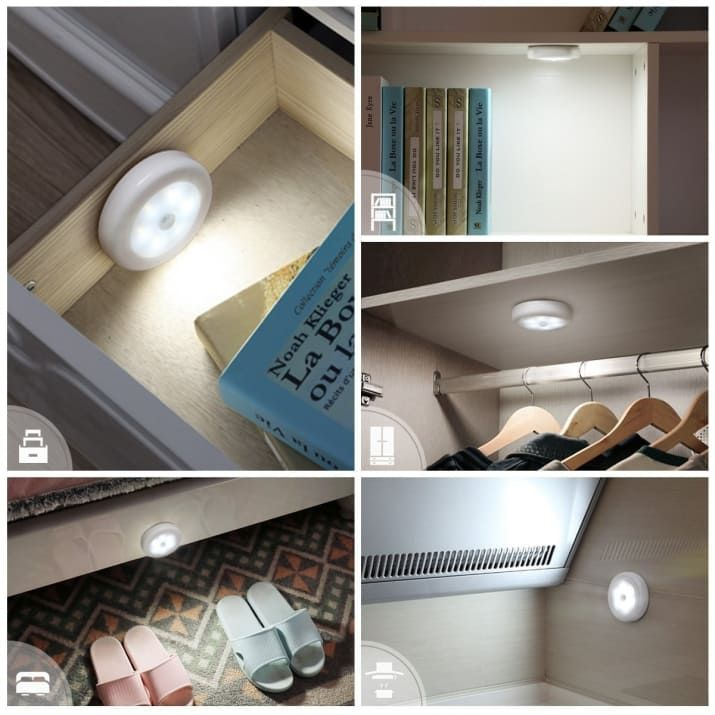 Every Time You Come Up To Them They Illuminate What Could Be Simpler Or More Useful Get A Set Of Thre Motion Sensor Lights Closet Lighting Led Night Light