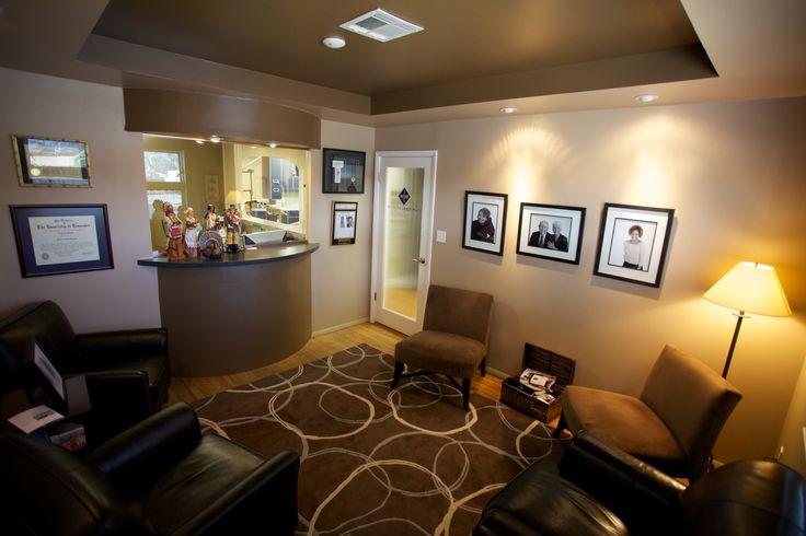Reception area ideas chiropractic office design pinterest for Office area ideas