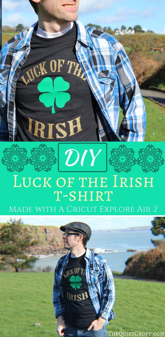 Design t shirt upload picture - Diy Luck Of The Irish T Shirt Made With A Cricut Explore Air 2