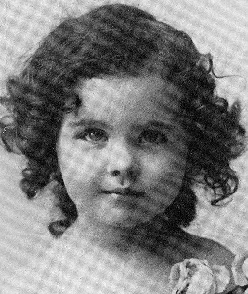 Vivien Leigh as a child