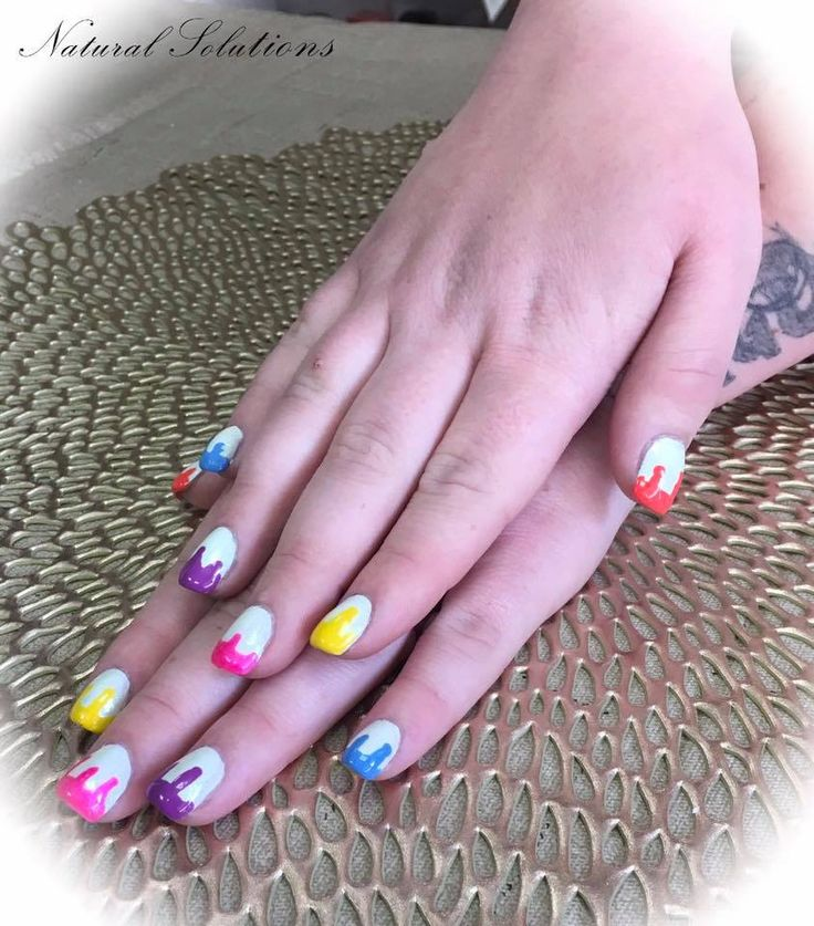 Natural Solutions offers spa manicures and pedicures, acrylic and gel nails. This nail service is a Tammy Taylor acrylic full set service using a white tip plus wetpaint design. This is a fun look we did to match a pinterest post.  #salemohio #salemoh #salemohiosalon #nails #manicure #ilovenails #nailmag #tammytaylornails #acrylicnails #nailart #fabulousnails #glamnails #pinterestnaildesigns #wetpaintnailart
