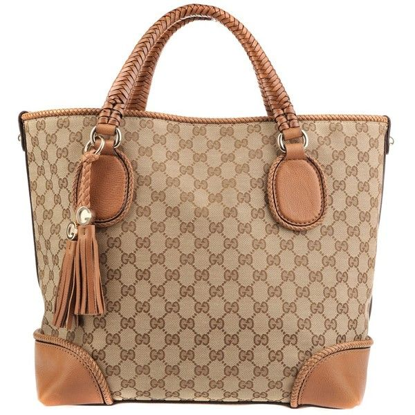 Gucci Cognac Bag Bit Heart ($1,935) ❤ liked on Polyvore