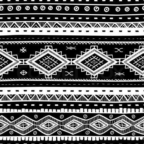 African Tribal print |... Black And White Tribal Print Wallpaper