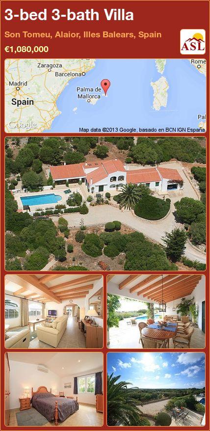 3-bed 3-bath Villa in Son Tomeu, Alaior, Illes Balears, Spain ►€1,080,000 #PropertyForSaleInSpain