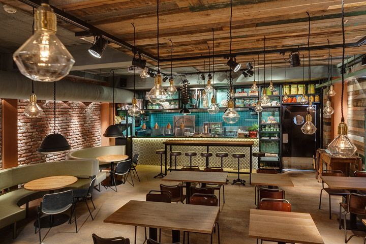 I'm convinced that the Dutch execute or exile bad designers...the graphics, the interiors, are so inspirational. Stan & Co restaurant by De Horeca Fabriek Utrecht Netherlands