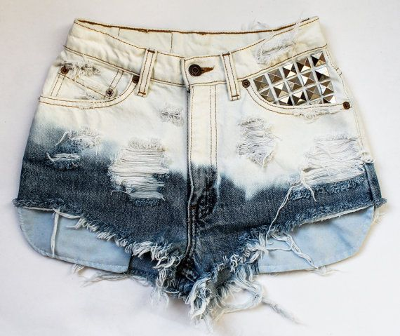 studded shorts along with some delish bleach dipping...