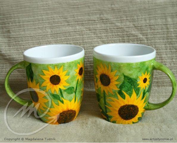 Kubek w słoneczniki - mug in sunflowers