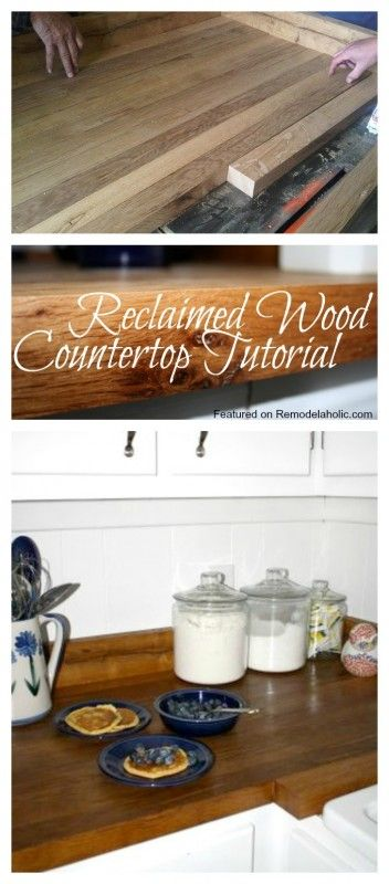 25 best ideas about reclaimed wood countertop on for Country kitchen countertop ideas