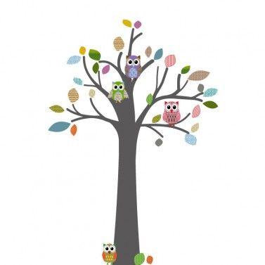 Leuke muursticker van een boom voor de baby- of kinderkamer | Muurstickers | Klein en Fijn