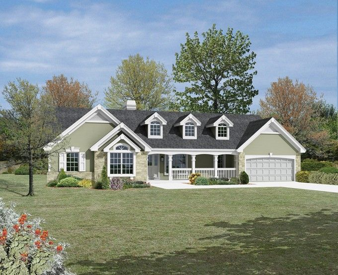 ranch home design plans. Ranch House Plan Front of Home for also known as the Foxridge  Country from Plans and More 135 best images on Pinterest Dream houses design