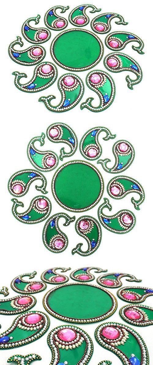 AMBA HANDICRAFT Rangoli / home decor/ Diwali / gift for home / interior handcrafted / floor stickers / wall stickers / wall decoration / floor decoration / new year gift / party. RANGOLI 114