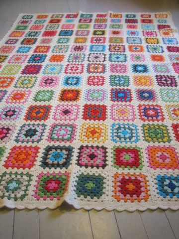 Granny square afghan 1 by yarn jungle, via Flickr - one day I shall make something like this!