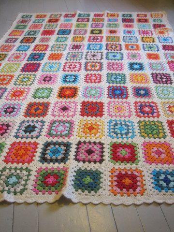 Grannie square blanket.