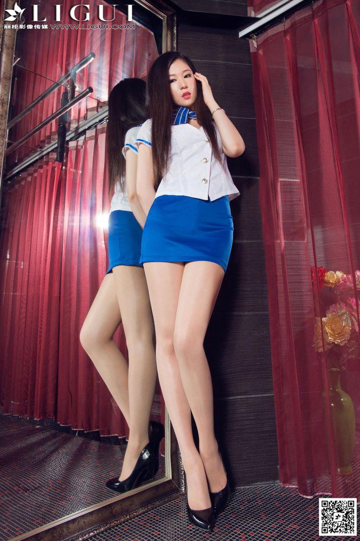[Ligui丽柜] 佳怡 - 超短裙制服美女肉丝袜美足_第1页/第2张图