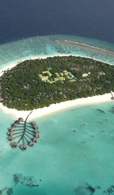 Coco Palm Dhuni Ariel View in the Maldives