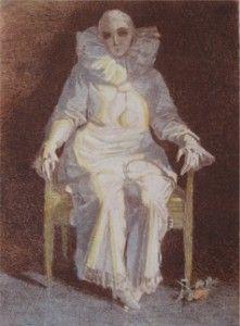 """Pierrot"", 1914, Gravura em Metal. Carlos  Oswald."