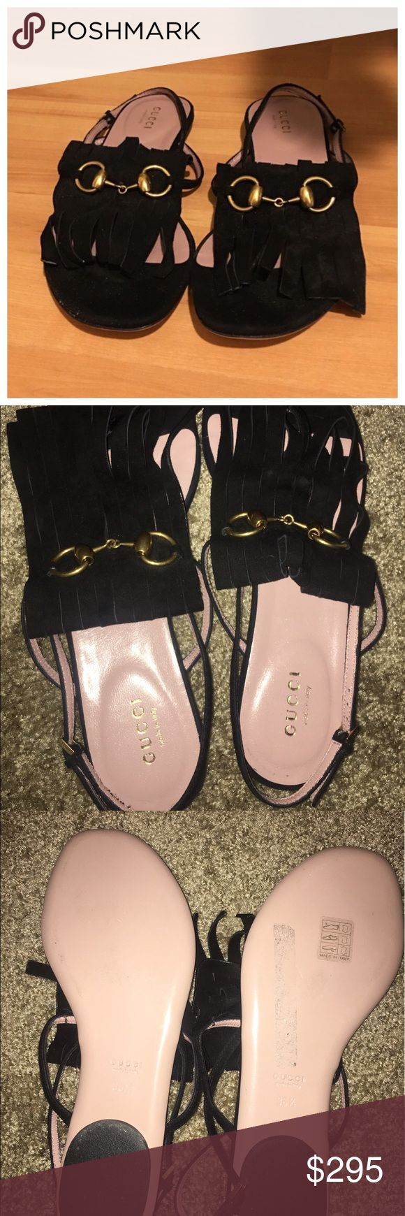 Authentic Gucci Sandals Like New Authentic Suede Gucci Sandals. MAKE AN OFFER. CHEAPER ON ♏️ with free shipping. Moving soon. Hoping for a quick sale. OPEN TO REASONABLE OFFERS. NO DUSTBAG OR BOX. Gucci Shoes Sandals