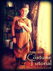 Share the racism to your kids, too! Native American Indain Costume Tutorial