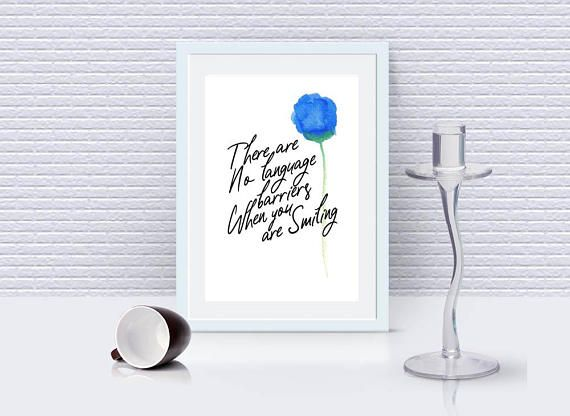 Wall Décor - Inspirational Quote -Digital Download -Watercolor Poster.
