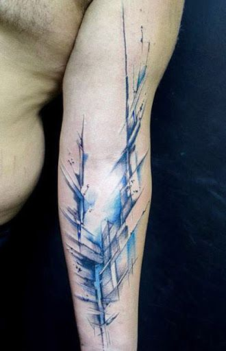 Abstract Tattoo by Klaim Street Tattoo