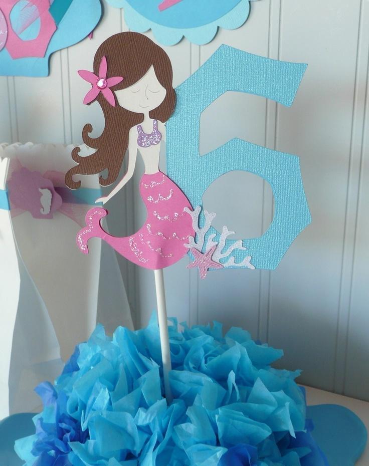 Image detail for -Mermaid Cake Topper table decor Custom by PocketFullofGlitter