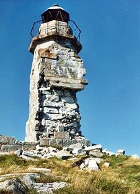 Rose Blanche Lighthouse, Newfoundland Canada in 1990 before restoration