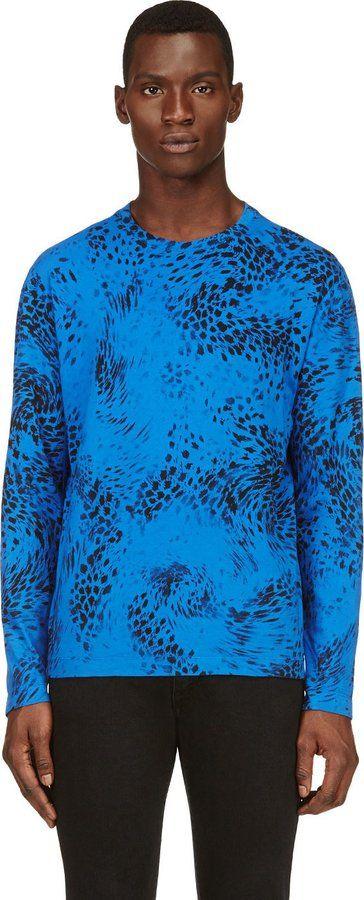 Balmain Pierre Blue Cotton Animal Print T-Shirt on shopstyle.com