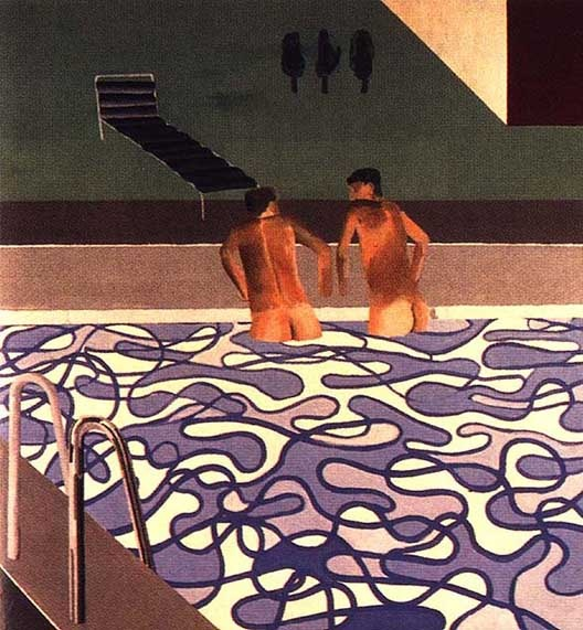 I cannot resist these pool paintings (not to mention his landscapes and photo collages!): David Hockney
