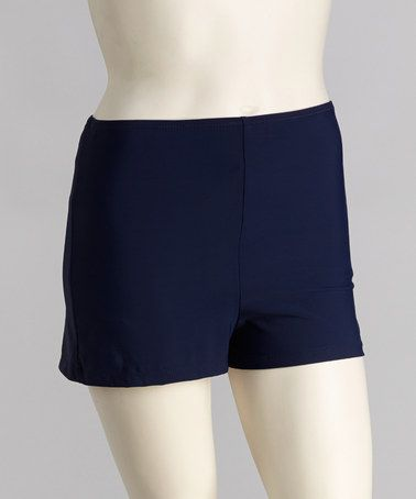 Take a look at this Navy Swim Shorts - Women & Plus by topanga By T.H.E. on #zulily today!
