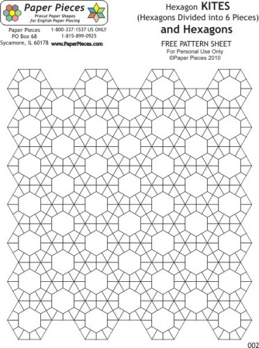 hexagon templates for quilting free - 37 best images about printable templates on pinterest
