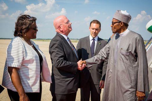 Buhari Meets Obama arrival3