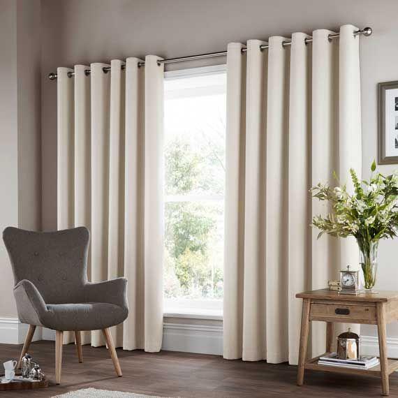 Woven Geo Cream Curtains