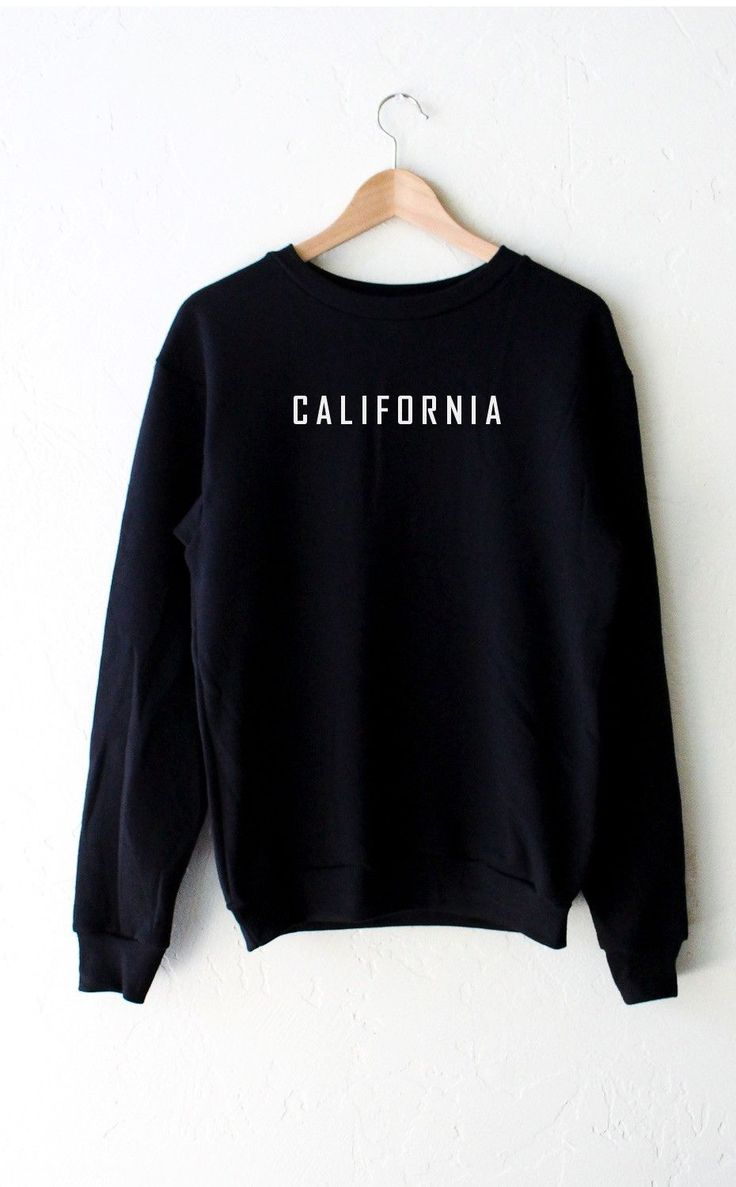 - Description - Size Guide Details: Relax in our super cute oversized crew neck fleece sweatshirt in black with print featuring 'California' by NYCT Clothing. Oversized, Unisex fit. 50% Cotton, 50% Po