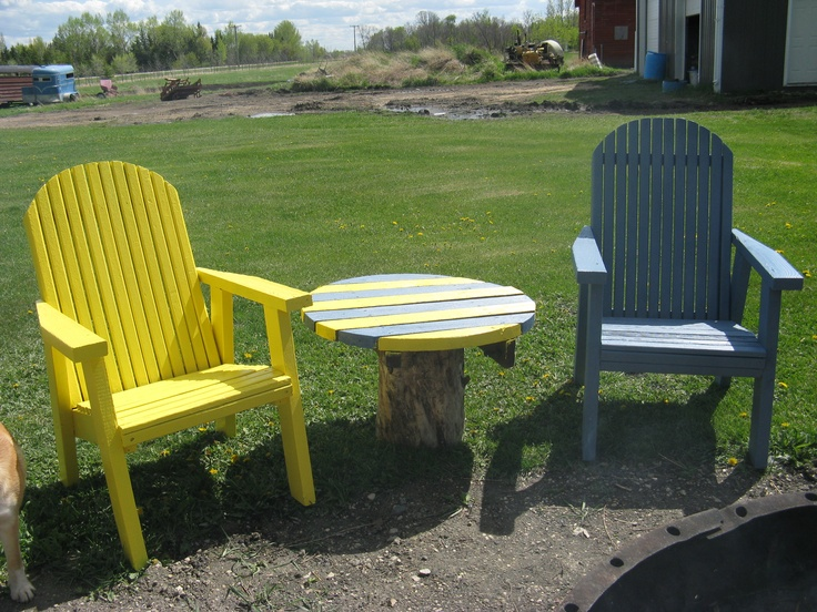 Repainted My Wood Lawn Chairs To Brighten Up The Yard Part 40