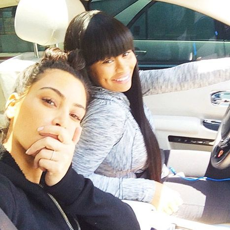 Kim Kardashian Goes Without Makeup in Selfie With Blac Chyna: Picture - Us Weekly