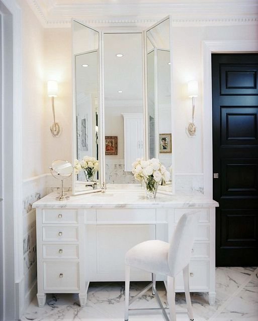 all white makeup vanity. Classic and clean all white  Love the feet on White VanityWhite Makeup 19 best Vanity images Pinterest Hair Bedroom Cool