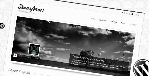 Transform Wordpress theme  #themeforest