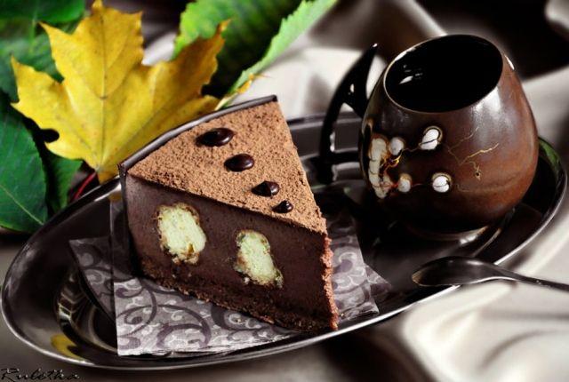 """Шоколадно-ванильный торт """"Облака в небо спрятались..."""""""