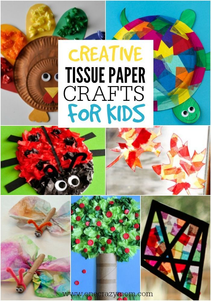 433 best crafts for the kids images on pinterest crafts for Creative tissue paper ideas